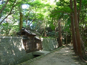 Oda Nobunaga's mausoleum on Mt. Azuchi