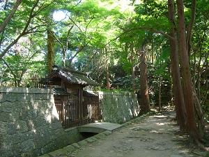 Oda Nobunaga's mausoleum on Mt. Azuchi