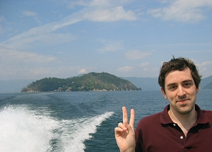 On the ferry that goes to and from Chikubushima